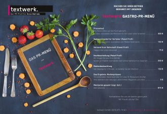 Gastro-PR von textwerk ©Thomas Bethge - stock.adobe.com